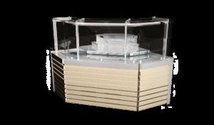 Вітрина кутова зовнішня Savona Cube